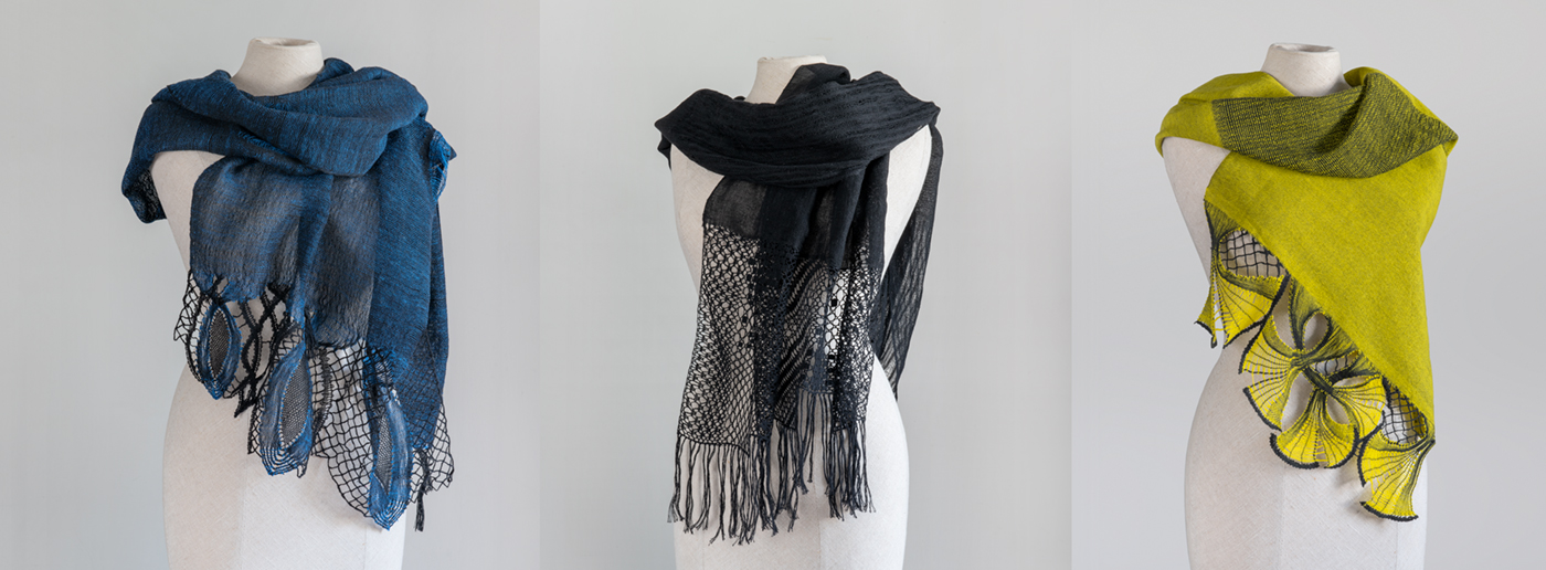 Bobbin made Lace Scarves and Shawls